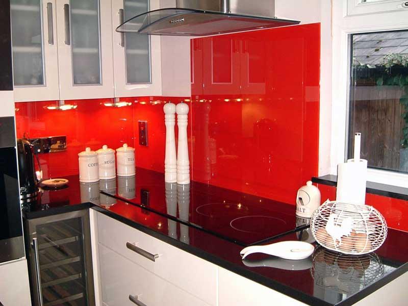 White Kitchen Red Splashback kitchen splash backs - brighton, east & west sussex
